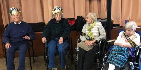 Four centenarians celebrate birthdays at JGS Lifecare