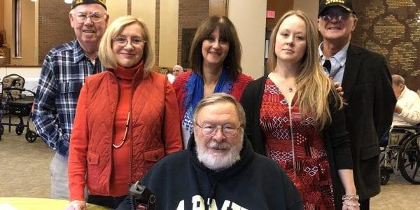 Veterans' photo shoot group