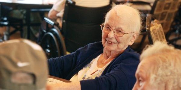 Leavitt Family Jewish Home resident playing Bingo