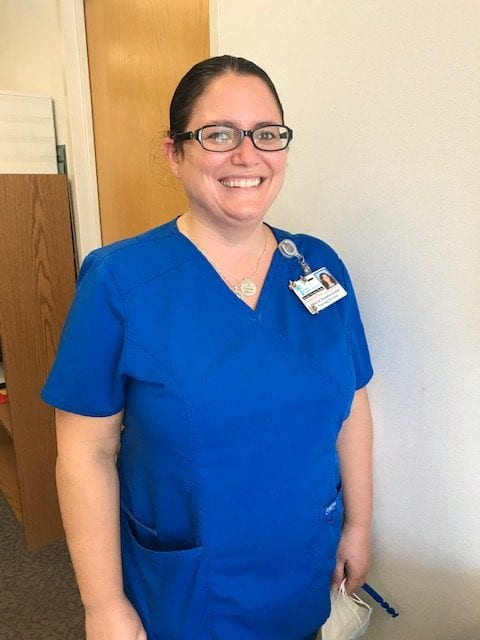 Christine Lunsford, RN, BSN, Clinical Reimbursement Coordinator at the Leavitt Family Jewish Home