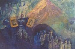Cindy Kornet's 10 Commandments painting