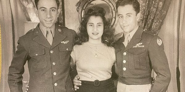 Armen Tashjian and his younger brother Eghishe both served in the US Army Air Corp. Shown here with their sister Nancy.