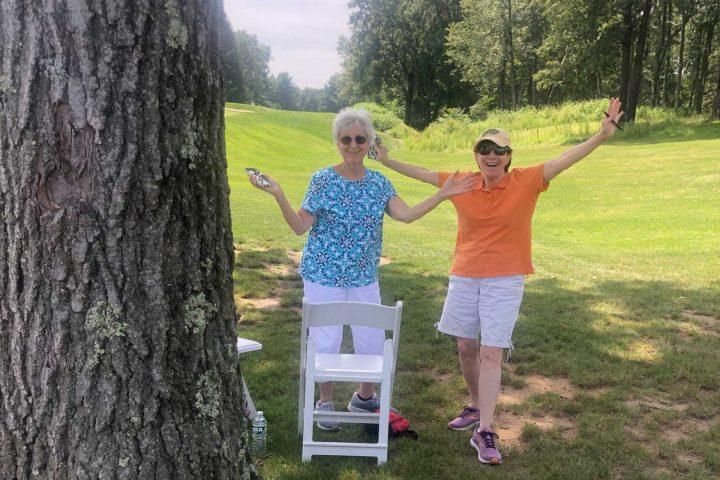Spectators at the Frankel Kinsler Golf Tournament