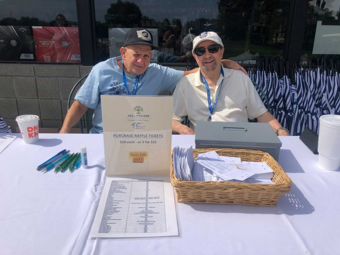 Check in table at the Frankel Kinsler Golf Tournament