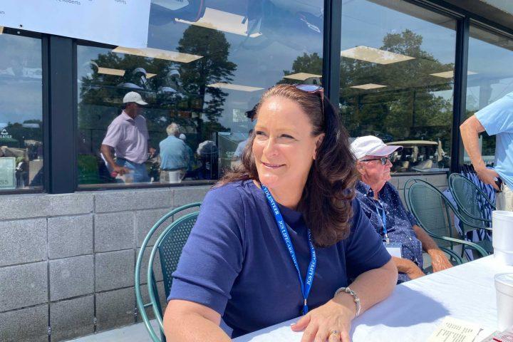 Sign in table at the Frankel Kinsler Golf Tournament