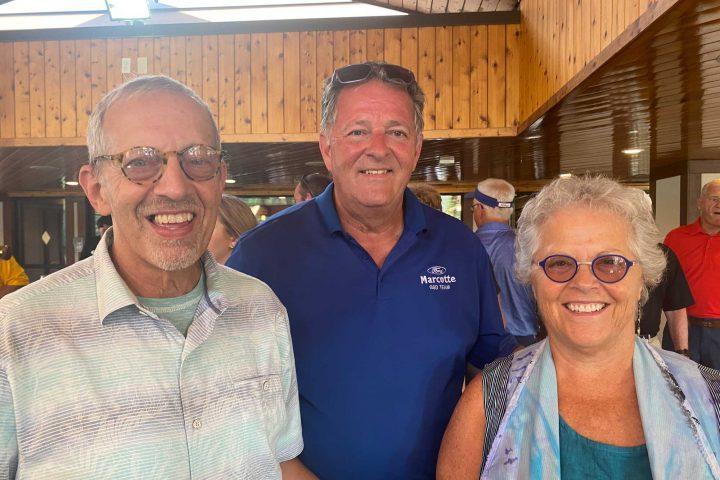 Three guests at the Frankel Kinsler Golf Tournament