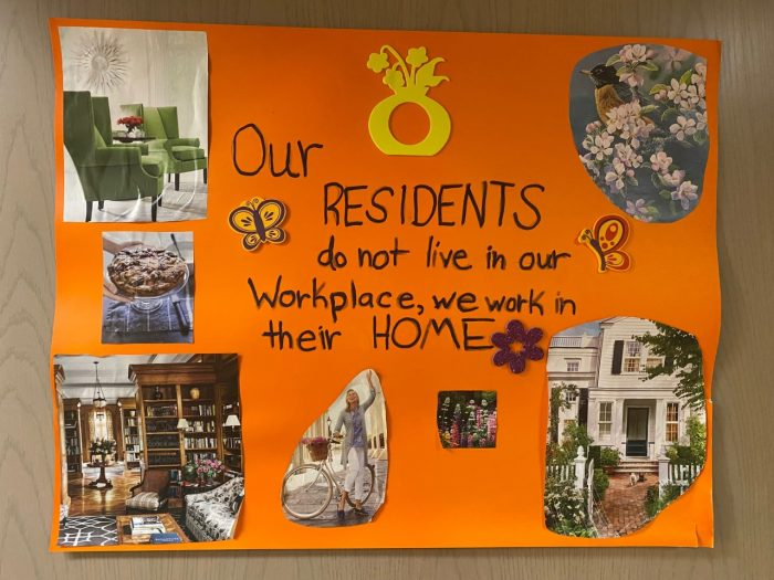A Poster: We Work in Their Home