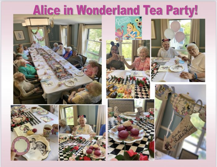 Alice in Wonderland tea party collage